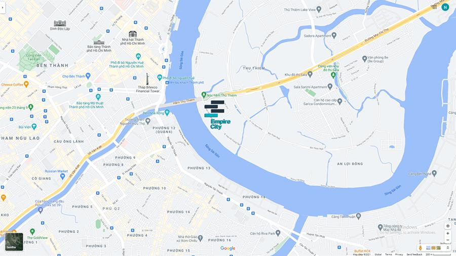 Vị trí Empire City