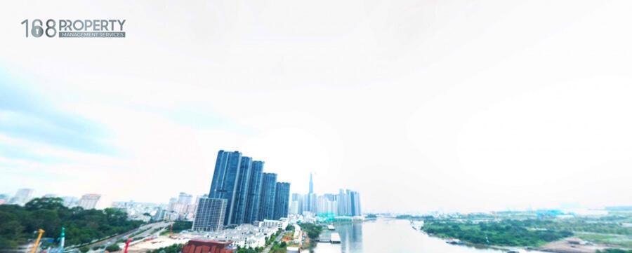 Tầm nhìn từ trên cao view sông Sài Gòn - Grand Marina Saigon